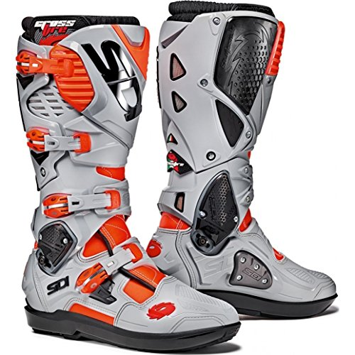Sidi Crossfire 3 SRS Motocross Boots 43 Red Fluo/Ash (UK 9)