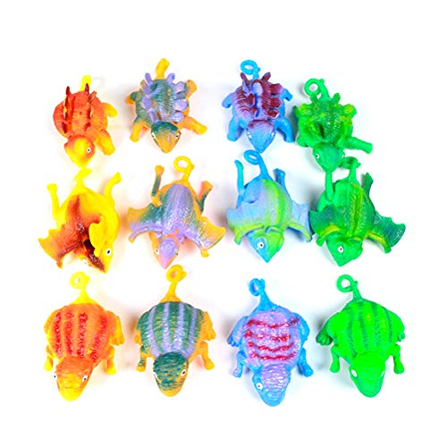 NIHAOYA 12 juguetes inflables inflables de ventilación de animales, colores al azar para decoración de fiesta de piscina, regalo de fiesta de cumpleaños para niños y adultos