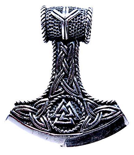 Kiss of Leather 382 - Colgante de martillo de Thor, plata de