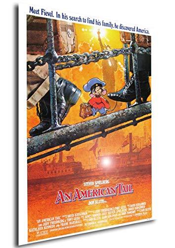 Instabuy Poster An American Tail (Fievel y el Nuevo Mundo) Vintage Movie Poster - A3 (42x30 cm)