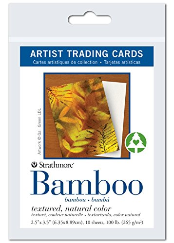 Strathmore Artist Trading Cards, Textured Bamboo, 2.5 X 3.5 inches, Package of 10