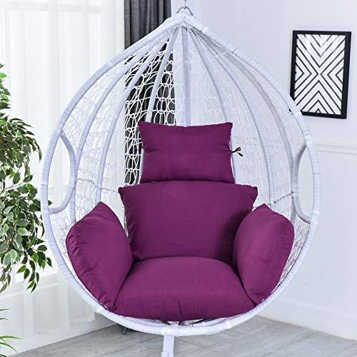 Chaise en rotin N /A, coussin de hamac, coussin de hamac, coussin de chaise suspendu, coussin épais pour intérieur extérieur, terrasse, jardin, plage, bureau, bleu, violet