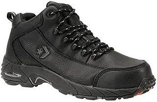 c74439b8b18e96 Reebok Mens Black Leather Work Shoes Postal Express Goretex Oxfords