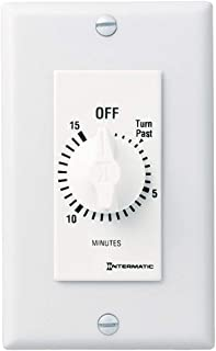 Intermatic FD15MWC 15-Minute Countdown Wall Timer for Fans and Lights, White