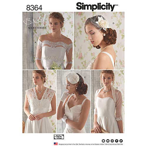 Simplicity patroon 6 – 44 – 12 – 14 snijpatronen toedekken/fascinator/hoed patroon, wit