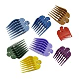 Professional Hair Clipper Guides Comb Attachment,8 Sizes Colorful Clipper Guards Attachmenmt Set for Most Hair Clippers/Trimmers-Cutting Lengths from 1/8'to 1'(3-25mm)