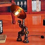 *Muenm Passat de moda del tub d'aigua indústria dels robots llum de taula lleugera *Loft retro Do vella personalitat creativa Barret llum d'escriptori de la llanterna Restaurant Bar Planxa És