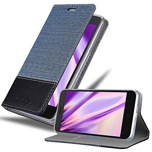 Cadorabo Hülle für Lenovo K6 / K6 Power in DUNKEL BLAU SCHWARZ - Handyhülle mit Magnetverschluss, Standfunktion & Kartenfach - Hülle Cover Schutzhülle Etui Tasche Book Klapp Style