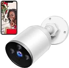 SUPEREYE Camaras de Vigilancia WiFi Exterior,IP66 a Prueba de Agua y Polvo,Cámara de Seguridad,Visión Nocturna de 60 pies,Tecnología de cifrado múltiple,Support for Android and iOS