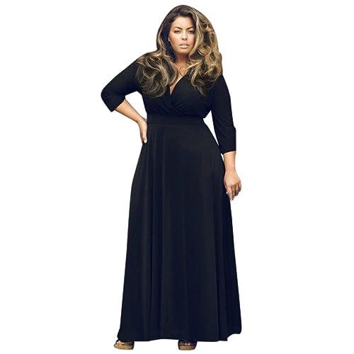 50% Preis schön und charmant hochwertiges Design Abendkleider Lang mit Ärmeln Große Größen: Amazon.de