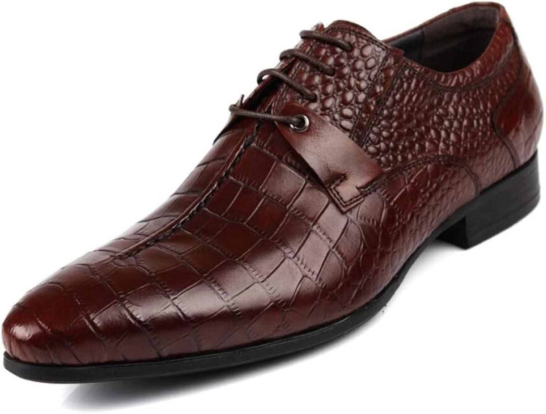 QARYYQ QARYYQ Herren-Bekleidungsschuhe mit bequemen klassischen modernen, formellen Business-Oxford-Schuhen mit Spitzen Schuhen von 38 bis 44 Yards Herren Lederstiefel (Farbe   braun, Größe   44 EU)  hohe qualität und schnelles verschiffen
