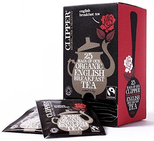 Clipper Infusiones orgánicas Inglés Breakfast Tea Bags 6 cajas de 25