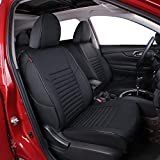 EKR Custom Fit Full Set Car Seat Covers for Select Nissan Rogue(Not for Select ) 2014 2015 2016 2017 2018 2019 2020 - Leatherette (Black)