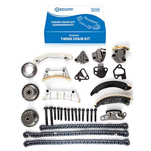 ECCPP Timing Chain Kit Guide Tensioner Sprocket for Buick Enclave Lacrosse Cadillac CTS SRX Chevy Equinox Malibu