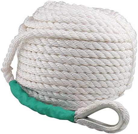 B4B BANG 4 BUCK BANG4BUCK Polypropylene Boat Dock Rope 1 2 Inch 200 Feet Three Strand Twisted product image