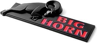 Sanucaraofo 1pc OEM Bighorn Emblem Big Horn Fender 3D Badge Ram 1500 Ram 2500 3500 Matte Black Red