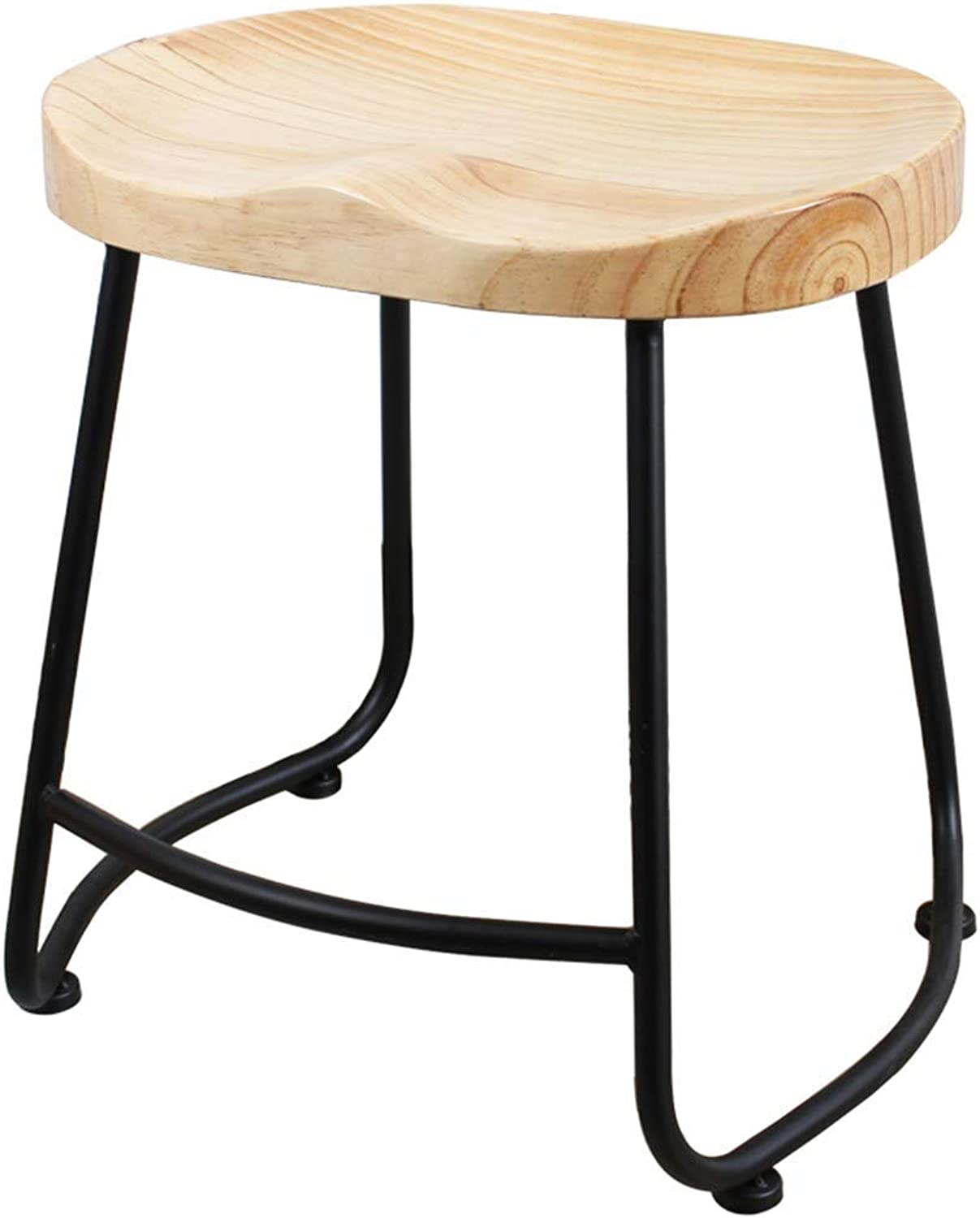 Bar Stool Modern Minimalist Home Solid Wood High Stool Fashion Creative Multi-Function Bar Chair Makeup Stool CONGMING (color   Black, Size   35.5  41  45cm)