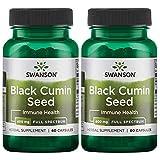 Swanson Full Spectrum Black Cumin Seed 400 Milligrams 60 Capsules 2 Pack