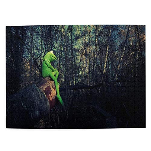 Jigsaw Puzzle 500 Piece,Kermit-The-Frog Puzzle for Kids Teens Adult 20.4' x 15' Fun Picture Puzzle Stress Relief Game for Christmas gi-ft