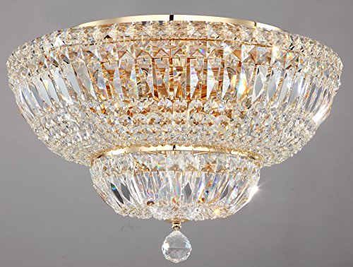 Lámpara de Techo de Cristales estilo barroco, classoco,de metal color oro antiguo...