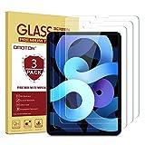 OMOTON [3 Stück Panzerglas für iPad Air 4/ iPad Pro 11, hüllefre&lich Glas Schutzfolie kompatibel mit iPad Pro 11(2020und2018)/iPad Air 4. Generation-funktioniert mit Face ID und Apple Pencil
