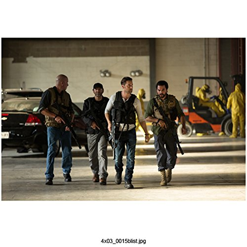 The Blacklist (TV Series 2013 - ) 8 Inch x10 Inch Ryan Eggold Leading Men w/Guns in Wearhouse kn