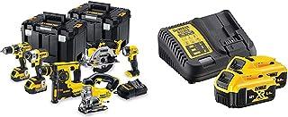 DEWALT DCK699M3T 18V 6 Piece Cordless Kit (3 x 4Ah Batteries) 2 x Tstak Kitboxes, 240 V, Multi, Large & B DCB184 5.0ah 18v...