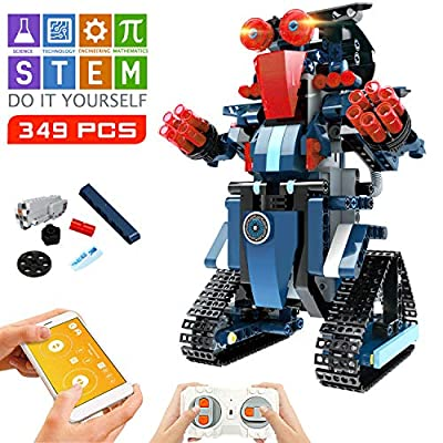 STEM Robot Toys for Kids, Cool Science Building Block Kit for Boy and Girl, Fun Educational Remote Control Toy with App Control for Learning for 8 9 10 11 12 13 14 Year Old Boys and Girls (Dark Blue)