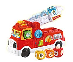 INTERACTIVE TOY: LeapFrog's Tumbling Blocks Fire Engine is a car toy with interactive blocks and sounds that introduce to letters and animals. Perfect to encourage little heroes with role-play rescue adventures DEVELOP FINE MOTOR SKILLS: Kids will bu...