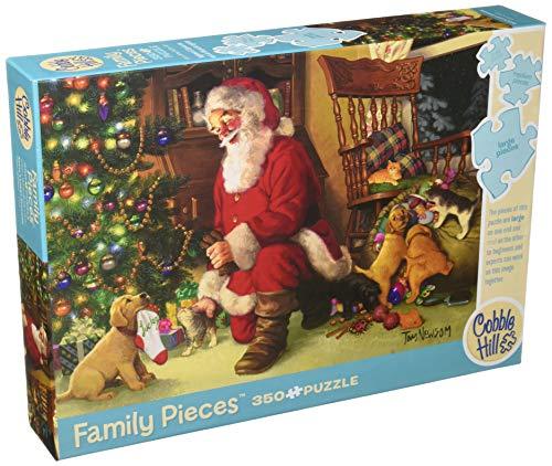 Cobblehill 54611Multi 350Lucky Chaussette du Père Noël puzzle, différents - version anglaise