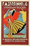 Poster Portugal Vihnos de Madeira, Reproduktion, Format 50