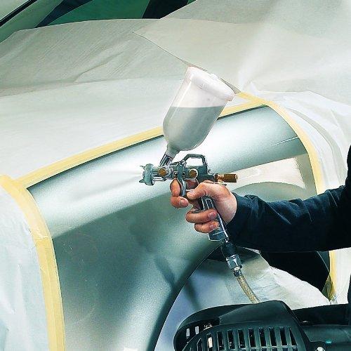 Einhell Accessoire Pistolet à peinture godet - Pression 3-3,5 bar - Capacité 0,6 l - Buse rotative - Gâchette - Godet à gravité - Régulateur jet, débit et consommation