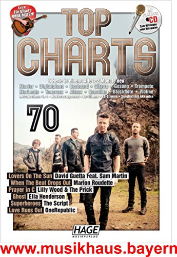 Top Charts 70con When The Beat Drops Out Marlon roudette–PRAYER in C Lilly Wood & The Prick & Robin Schulz–Love runs Out One Republic–Ghost Ella Henderson–Lovers on the sun David Guetta Feat. SAM Martin–Super Heroes The Script + Reproducción de CD