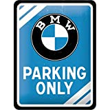 Nostalgic-Art PO26177 BMW – Parking Only Blue –