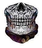 RAISEVERN Sturmhaube Schädel Ghost Face Schal Schal Multifunktionale Kopfbedeckung Halsmanschette...