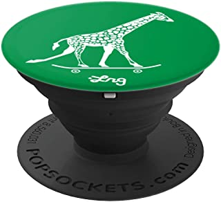 LRG Giraffe on a Skateboard PopSockets Grip and Stand for Phones and Tablets