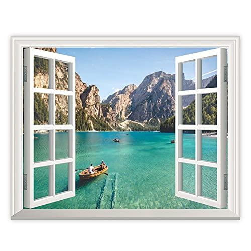 Tr674gs 20,3 x 25,4 cm, lienzo para pared, impresión artística de la naturaleza del barco, decoración de pared para baño, cocina, sala de estar, hogar