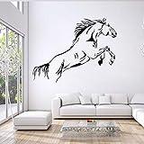Pferd Wandsticker Wandgemälde,Wandtattoo Wandaufkleber Wand Spruch Kinderzimmer Baby Mädchen Jungen Türaufkleber, Personalisiert