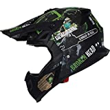 Broken Head Resolution - Motorrad-Helm Für MX, Motocross, SuMo und Quad - Matt-schwarz & Grün - Größe L (59-60 cm)