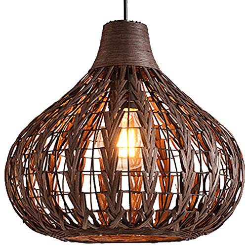 HAIXIANG Natural Bamboo Chandelier 13.8
