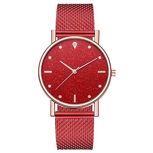 Relojes para Mujer Cuarzo es Dial de Acero InoxidableRelojesCasuales para MujerZ