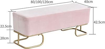 Lin Scarpe Armadi Panchina, Moderna Porta Wear poggiapiedi in Porta Negozio di Abbigliamento Divano Sgabello Rettangolo,Navy Blue,100