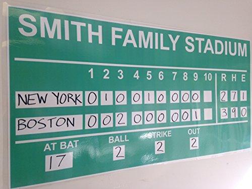 Copy King Large Dry Erase Custom Baseball Scoreboard 2ft x 4ft