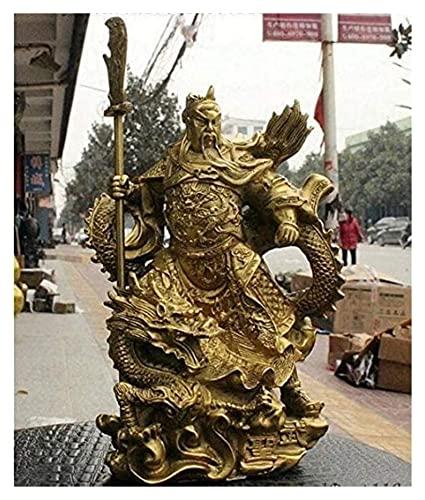 WQQLQX Statue Guan Gong Yumen Excalibur Statue Messing Krieger Skulptur Handwerk Ornamente Figuren Büro Haus Möbel Skulpturen