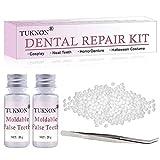 Dent Temporaire,Kit de Dent provisoire Réparation,Prothèses dentaires instantanées,Réparation temporaire des dents,Fausse dents moulables temporaires pour fixer la dent cassée manquante remplissante