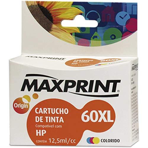 Cartucho de tinta, Maxprint, Compatível HP CC644WL No.60, Colorido, XL
