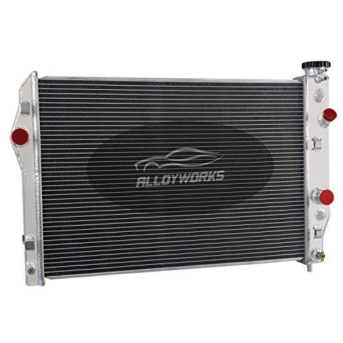 alloyworks 4Fila Radiador de aluminio para chevy Camaro Firebird Z285.7L V8