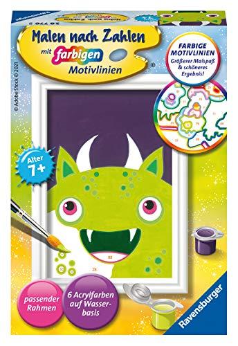 Ravensburger Malen nach Zahlen 28776 - Freches Monster - Für Kinder ab 7 Jahren