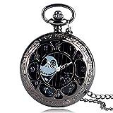 The Nightmare Before Christmas - Reloj de Bolsillo para Hombre, Estilo Antiguo, Estilo Casual