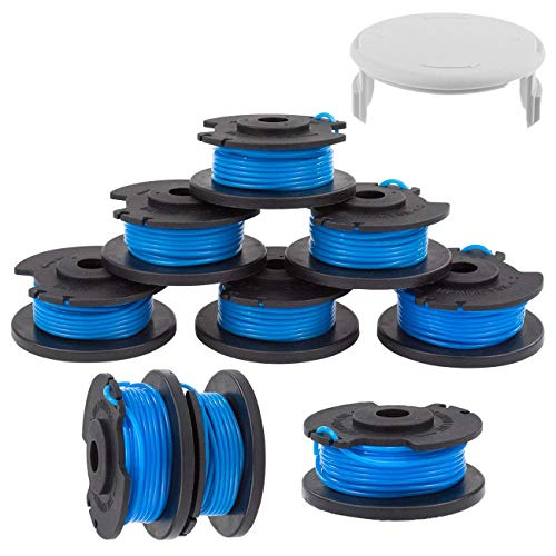 """TIOIT String Trimmer Spool Line for Ryobi One+ AC14RL3A, 0.065"""" Autofeed Replacement RefillSpools for Ryobi 18V, 24V, and 40V Cordless Trimmers Weed Eater String(9 - Edger Spool,1 Cap)"""